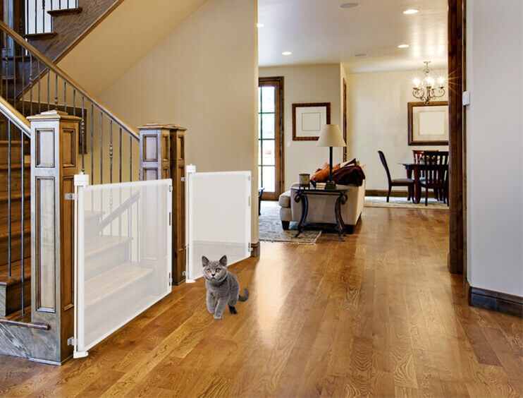 Top Banister To Banister Retractable Gate