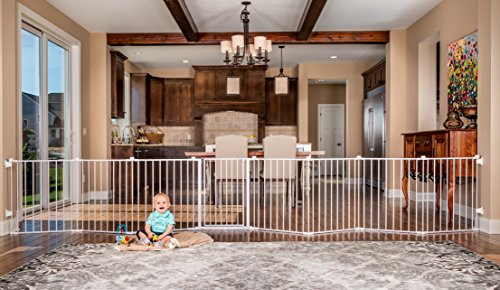 This Freestanding Gate Is Really Large And Can Expand To Form A 192 Inches  Wall Mounted Gate Or Free Standing Barrier. This Makes It Ideal For All  Your Pets ...