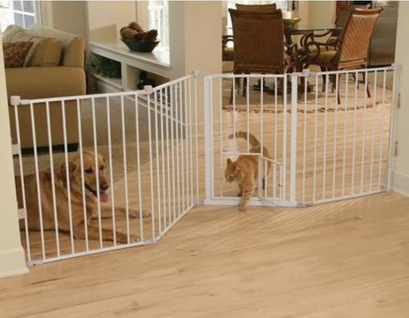 Pet Gate With Cat Door