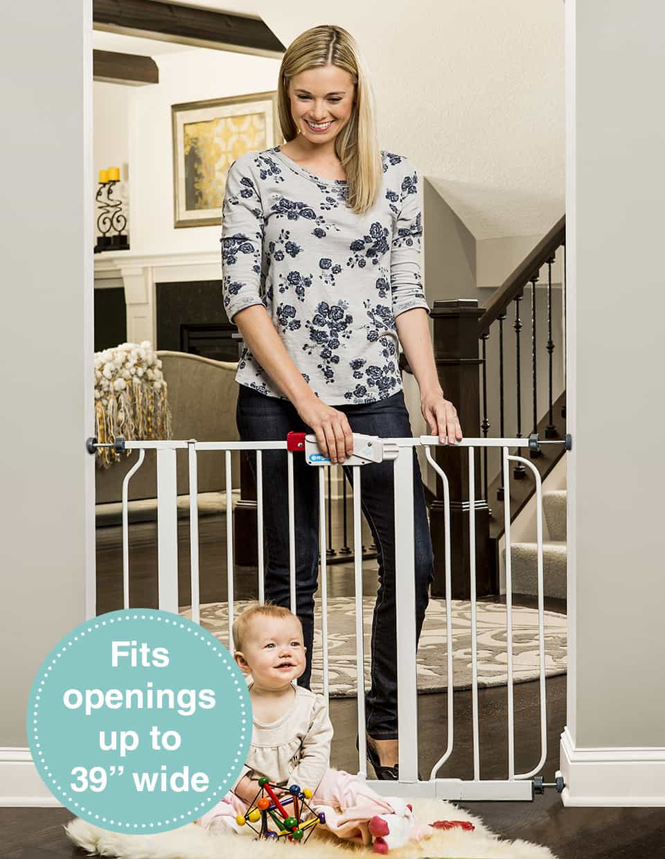You Can Use This Narrow Stair Gate Any Place That Allows You To Pressure  Mount It. It Does Not Require Any Drilling Or A Place To Fasten ...