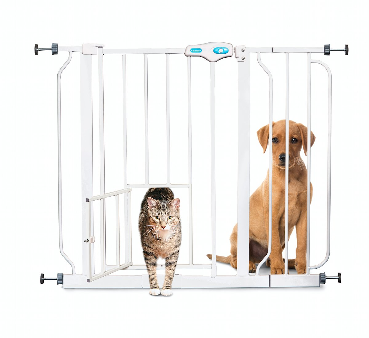 If You Are Looking For Efficiency Then Carlson Extra Wide Dog Gate Is What  You Need To Have. It Includes A One Touch Handle Which Makes The Door Open  Quite ...